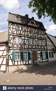 Half Timbered Architecture In Erpel, Rhineland Palatinate, Germany Stock Photo, Royalty Free Image: 71113005 - Alamy