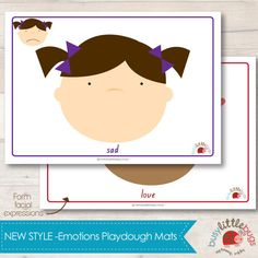 NEW Design Emotions Playdough Learning Mats door BUSYLITTLEBUGSshop
