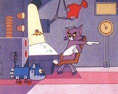"""""""Guided Mouse-ille"""" Tom and Jerry and robot cat"""