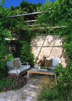 Lauren's Garden Inspiration - Rock My Style | UK Daily Lifestyle Blog Outdoor Seating Areas, Garden Seating, Wooden Pergola, Diy Pergola, Pergola Ideas, Pallet Pergola, Backyard Gazebo, Outdoor Retreat, Outdoor Rooms