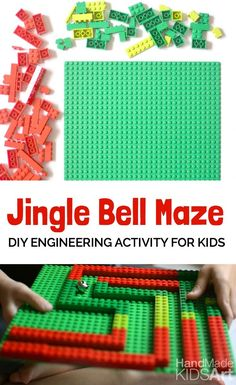 DIY kid engineering activity for Kids. Jingle bell rock with this easy Christmas STEAM challenge.