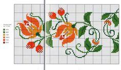 Gallery.ru / Фото #46 - Скатерти салфетки дорожки - artusik Butterfly Cross Stitch, Cross Stitch Borders, Cross Stitch Flowers, Cross Stitch Charts, Cross Stitch Designs, Cross Stitching, Cross Stitch Patterns, Folk Embroidery, Cross Stitch Embroidery