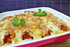 Retete Culinare - Cannelloni cu carne de pui Romanian Food, Food Hacks, Allrecipes, Lasagna, Healthy Recipes, Cooking, Ethnic Recipes, Anna, Pizza
