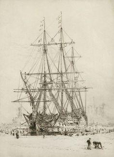 WILLIAM LIONEL WYLLIE R.A. (BRITISH, 1851-1931) - by Charles Miller Ltd