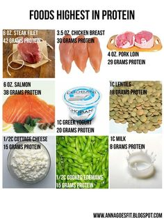 Need more protein in my life. foods high in protein Get Healthy, Healthy Tips, Healthy Choices, Healthy Snacks, Healthy Recipes, High Protein Low Carb, High Protein Recipes, Protein Foods, Lean Protein