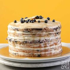 This blueberry pan(cake) is a must for brunch or any morning when your sweet tooth is craving something sweet!