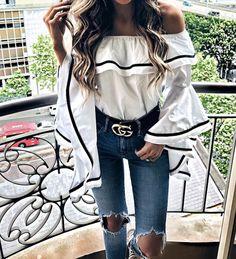 ZsaZsa Bellagio – Like No Other #ruffle blouse #street fashion