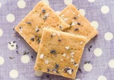 Salted lavender white chocolate shortbread