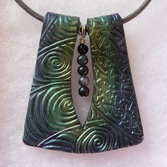 Handmade metallic polymer clay pendant | Flickr - Photo Sharing!