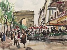 Herbelot French Lithograph Arc de Triomphe de L'Étoile Signed and Numbered | eBay