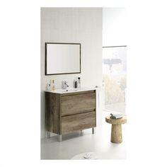 Vanity Unit With Mirror Bathroom Furniture Basin Metal Cabinet Sink Wash White Bathroom Suites Uk, Bathroom Design Inspiration, Upstairs Bathrooms, Vanity Units, Bathroom Fixtures, Mirror Bathroom, Bathroom Ideas, Bathroom Furniture, Sink