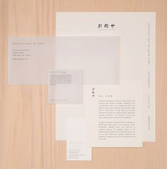 Visual identity and stationery design by Savvy for New York restaurant Omakase Room by Tatsu