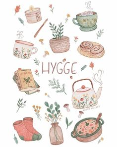 A collection of things that gives hygge. A collection of things that gives hygge. Art And Illustration, Illustration Mignonne, Journal Stickers, Planner Stickers, Art Mignon, Posca Art, Cute Stickers, Free Printable Stickers, Doodle Art