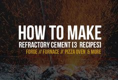 "Three ""how to make"" refractory concrete recipes (also know heat resistant cement) for all your home projects: furnaces/forges, pizza ovens and more. Concrete Steps, Concrete Projects, Metal Projects, Roman Concrete, Concrete Wood, Craft Projects, Craft Ideas, Sand Casting, Metal Casting"