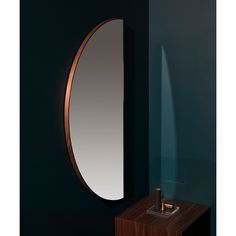 The Half Circle Mirror can be hung in multiple orientations, making it a versatile, functional accent to any space. Navy Bathroom Decor, Cheap Bathrooms, Half Circle, Interior Accessories, Decorative Items, Mirror, Home Decor, Decoration Home, Room Decor