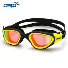 Fasion Copozz Swimming Goggles Anti-Fog Men Women Waterproof Silicone Glasses Adult Plate Eyewear