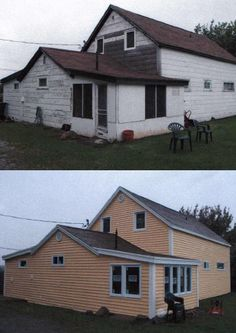 Rusco Saint John Limited Renovated This New Brunswick Home Using Gentek S D4 Driftwood Siding In Amber Cottage Exterior House Styles Cottage