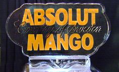 Absolut Mango Ice Carving