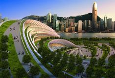 Green-Roofed West Kowloon Terminus Will Link Hong Kong With China's High Speed Rail
