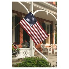 7804d4f00 Valley Forge U.S. Flag Kit With 2.5ft x 4ft Polycotton Flag   5ft Wood Pole