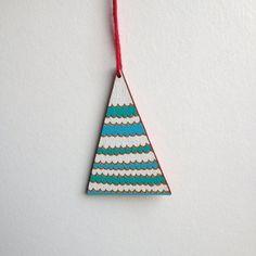 Geometric mountain inspired Christmas ornament / by anitaivancenko Geometric Mountain, Handmade Wooden, Handmade Gifts, Christmas Tree Painting, Tree Pendant, Winter Ideas, Wooden Decor, Handmade Ornaments, Triangle