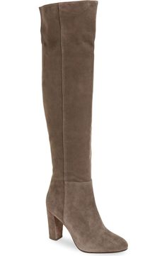 A sleek over-the-knee boot is a stylish must-have for the fall and winter months ahead. These grey suede 'Noble' Halogen boots from the Anniversary Sale are so fab!