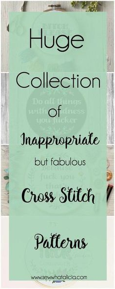 Cross Stitch Patterns that are Inappropriate but Fabulous: These patterns are not for the faint of heart. If you are easily offended please don't open these. Click through for a full list of inappropriate cross stitch patterns. #crossstitch #handmade
