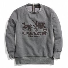 The Horse and Carriage Sweatshirt With Leather from Coach