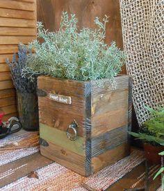 """Купить Короб деревянный """"Country decor"""" - коричневый, короб для кухни, короб для хранения, ящик для цветов"""