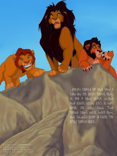 Mufasa, Ahadi and Taka by NewSea-ANother on deviantART