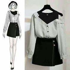 Here's Stylish korean fashion outfits Kpop Outfits, Korean Outfits, Mode Outfits, Trendy Outfits, Cute Fashion, Look Fashion, Womens Fashion, Kawaii Fashion, Fashion Ideas
