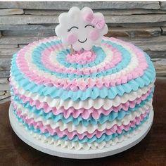 Baby Cakes, Baby Shower Cakes, Baby Birthday Cakes, Buttercream Cake, Fondant Cakes, Cupcake Cakes, Pretty Cakes, Beautiful Cakes, Cloud Party