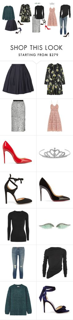 """Little Miss Naughty"" by adhene ❤ liked on Polyvore featuring Burberry, Dolce&Gabbana, self-portrait, Christian Louboutin, Yves Saint Laurent, Gianvito Rossi, ADAM, Noor Fares, J Brand and Rick Owens"