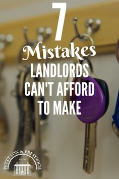 Read about 7 Common Landlord Mistakes You Can't Afford To Make. Property Investor, Investment Property, Income Property, Best Real Estate Investments, Real Estate Investing, Home Selling Tips, Home Buying Tips, Buying A Rental Property, Us Real Estate