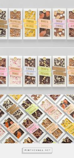 Lolli and Pops / Deliciously Topp'd / Samantha Szakolczay Chocolate Packaging Chocolate Box Packaging, Brownie Packaging, Packaging Snack, Bakery Packaging, Cookie Packaging, Food Packaging Design, Simple Packaging, Packaging Ideas, Innovative Packaging