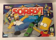 Sorry The Simpsons Edition Board Game Of Sweet Revenge  #ParkerBrothers