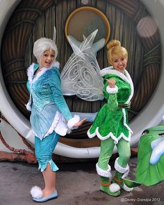 Tinker Bell and Periwinkle. Fairy sisters!