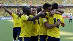 Eliminatorias Copa Mundial de la FIFA Brasil 2014 | Colombia 4 vs Uruguay 0 | 7-09-2012 | La selección celebra el segundo gol.