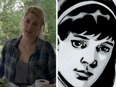 The TV version of Jessie was played by Alexandra Breckenridge, and looked quite different to her comic counterpart. In the comic series, when we meet Jessie she is married to Pete, the community's doctor, and the mother of Ron. Already on the show the writers have given TV show Jessie an extra son, Sam, as well as a love of owls.