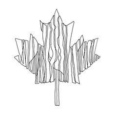 Abstract Line Drawing / Page 5885 / The Page Colouring Book / Canadian Maple Leaf / Canada 150 Logo alternative / Free Colour. Leaf Coloring Page, Colouring Pages, Free Coloring, Coloring Books, Abstract Drawings, Abstract Lines, Doodle Drawings, Canada 150 Logo, Canada Day Crafts
