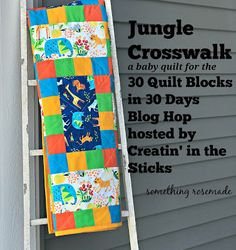 something rosemade: 30 Quilt Blocks in 30 Days Blog Hop:  Jungle Cross...