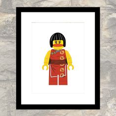 Original Girl Ninja Print  Child or Adult  Wall by paper4download