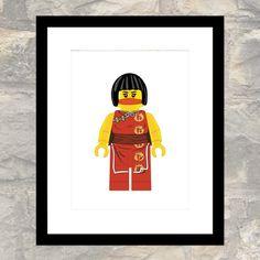 Original Girl Ninja - Nya - Print - Child or Adult - Wall Art - Instant Download