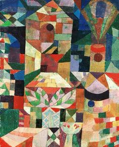 Castle Garden by Paul Klee....lol, yeah, I see a quilt pattern there too!  ;-0