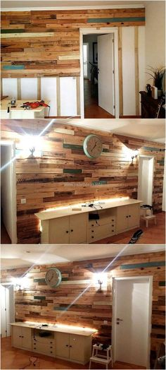 Another great idea to be used for fascinating interior or outdoor decor. Now a days recycled wooden pallets are purposefully used to enhance the beauty of work place or house. A perfect way to create a natural and organic environment around you is to recycle wood pallets into wooden wall art.