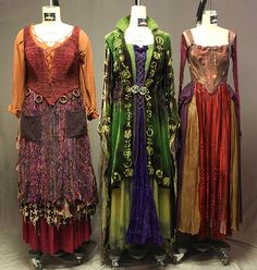 the actual costumes used in the movie hocus pocus. A good reference to recreate them.