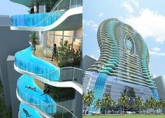 a pool on every balcony (James Law, architect)