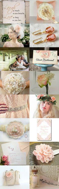 Peach Wedding by parsi on Etsy--Pinned with TreasuryPin.com