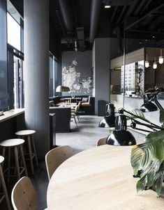 Can you believe this utterly stylish space is a fast food restaurant? See more on Lights Online Blog!
