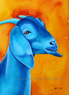 This listing is for a print of a original watercolor painting, Sarah This goat art print is available in sizes 8 x 10 or 5x7 (approximately).